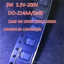 1SMB5917BT3G 1SMB5918BT3G 1SMB5919BT3G 1SMB5920BT3G 4.7 V 5.1 V 5.6 V 6.2 V 3.0 W dioda zenera SMD DO-214AA/SMB nowy 100 sztuk/partia