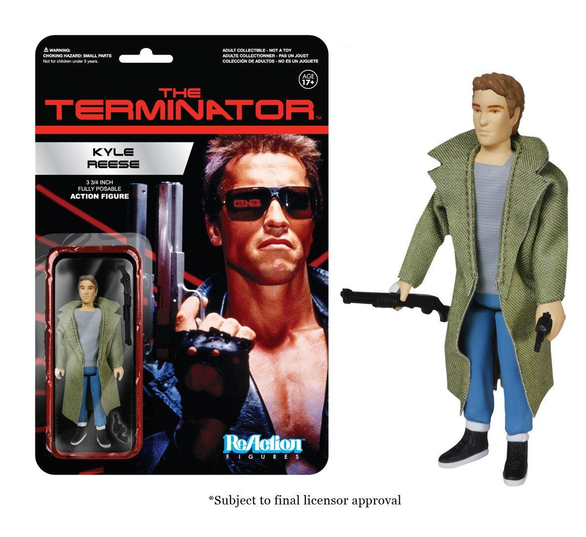 Funko <font><b>ReAction</b></font> <font><b>Figure</b></font> <font><b>The</b></font> <font><b>Terminator</b></font> - <font><b>Kyle</b></font> <font><b>Reese</b></font> Vinyl <font><b>Action</b></font> <font><b>Figure</b></font> Collectible Model Toy with Original Box