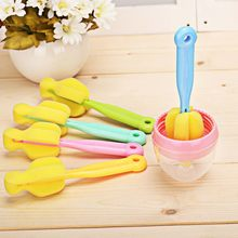 Baby Milk Nipper Bottle Cleaning Brush 360 Degree Sponge Cleaner Cup Bottle Brushes(China)