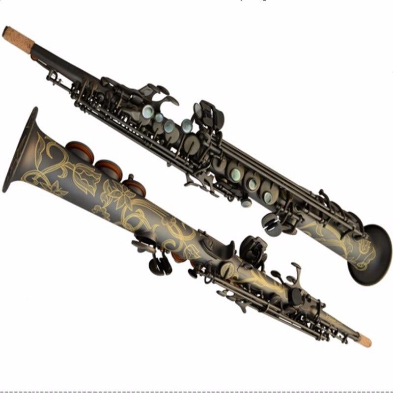 Nouveau Saxophone Soprano français Selma 80 série BB Instruments de musique saxo noir mat Saxophone Soprano professionnel gratuit