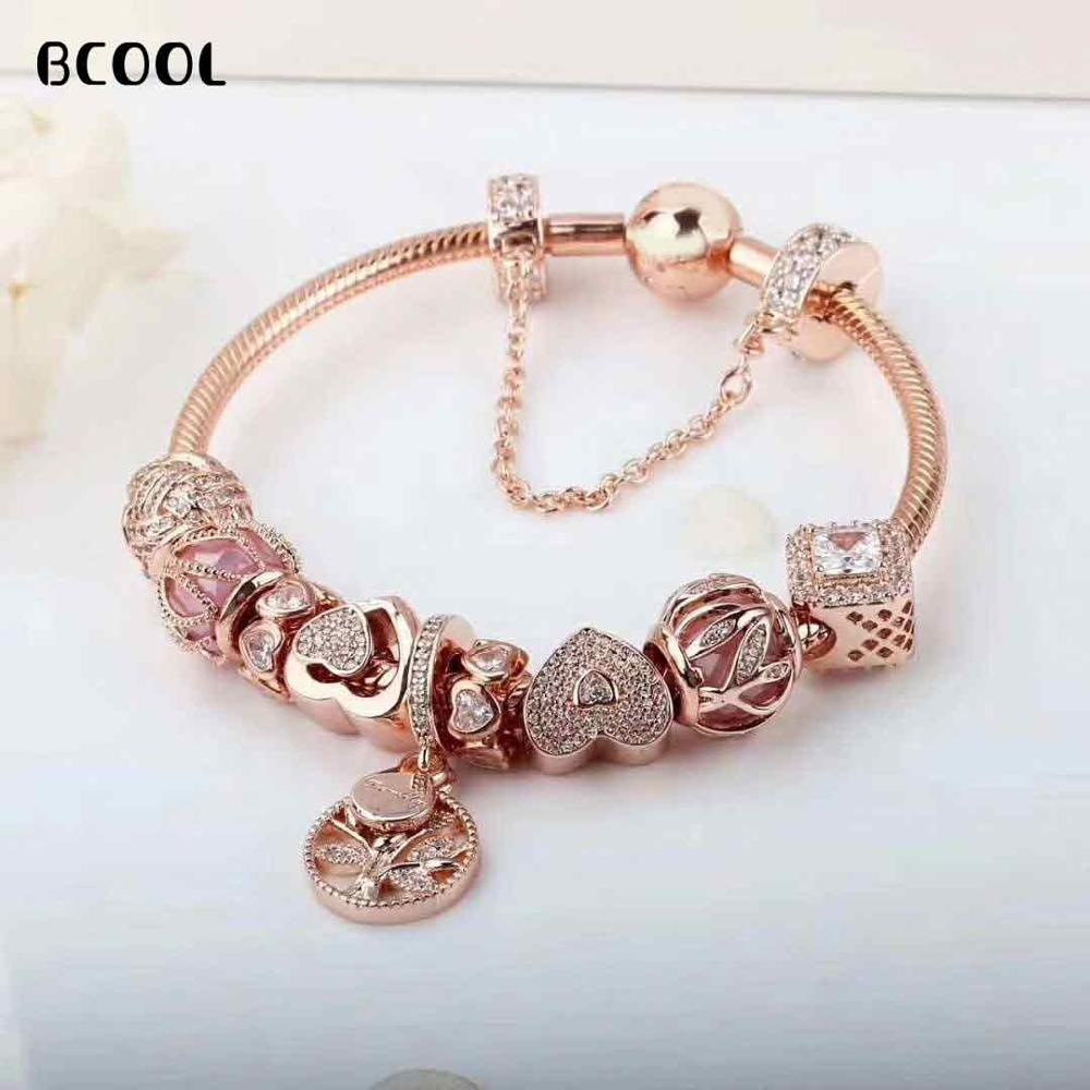 DIY Jewelry Womens Charm Fashion Silver 925 Original Bracelet, Suitable For Women Gold Heart Pearl Bracelet Jewelry GiftsDIY Jewelry Womens Charm Fashion Silver 925 Original Bracelet, Suitable For Women Gold Heart Pearl Bracelet Jewelry Gifts