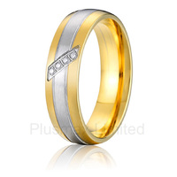 wholesale promotion discounted arc shaped inside good feeling classic titanium engagement wedding rings fashion jewelry