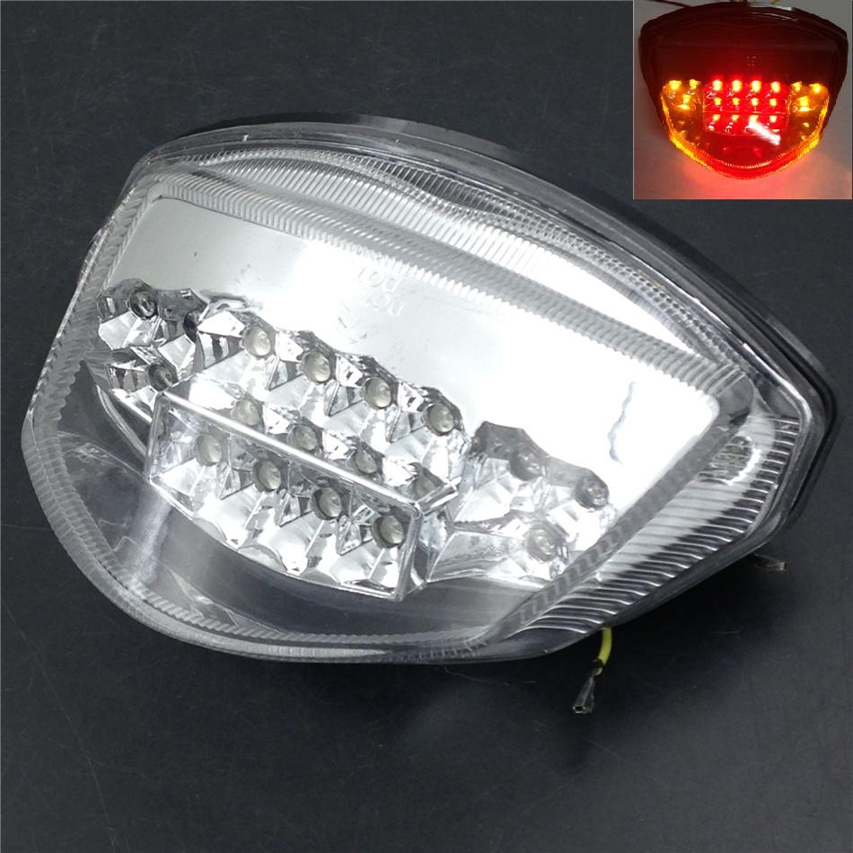 Aftermarket free shipping motorcycle parts LED Tail Brake Light Turn Signals for GSX-R GSXR 1000 2007 2008 clear aftermarket free shipping motorcycle parts led tail brake light turn signals for honda 2000 2001 2002 2006 rc51 rvt1000r smoke