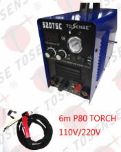 110/220V dual Voltage 520TSC With Pilot Arc P80 Torch 6M TIG MMA CUT ARC Welding Machine Untouchable DC inverter