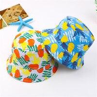 Cute Baby Girl Hats Newborn Sun Hat Print Fruit Cotton Bucket Cap Kids Photography Props 6