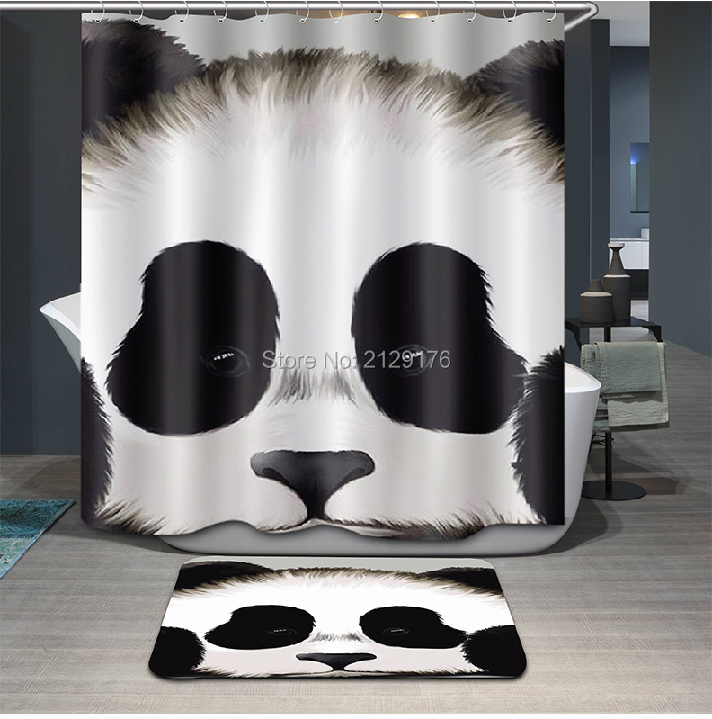 customized shower cutains black tan damask monongram bathroom shower curtains polyester waterproof fabric with hookin shower curtains from