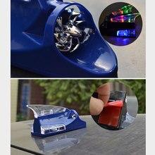 Авто радио сигнальные антенны на крышу сила ветра Акулий плавник автомобильная антенна СВЕТОДИОДНЫЙ Красочный Свет антенны на крышу Декор автомобиля Стайлинг