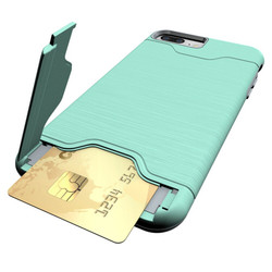 Étui pour iPhone 6 6 s 7 Plus couverture arrière de luxe pour Apple iPhone 7 7 Plus coques de téléphone porte-cartes pour iPhone 6 s