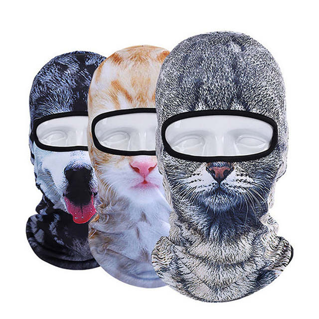 Online Shop 3D Animal Cat Bicycle Hats Balaclava Halloween Snowboard Winter  Warmer Windproof Helmet Liner Full Face Mask for Men Women  2be4500ce7