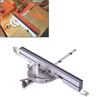 Miter Gauge with track Stop Table Saw/Router Miter Gauge Sawing Assembly Ruler for Table Saw Router Woodworking DIY Tools