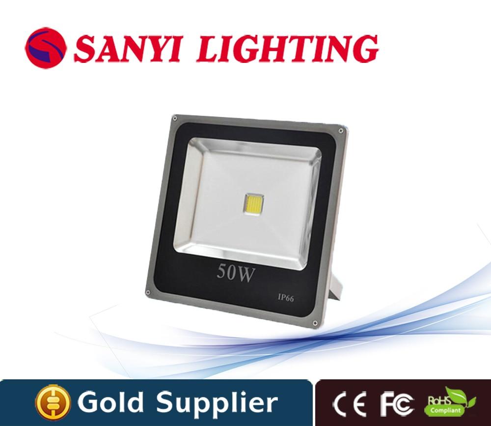 Ultrathin waterproof led floodlight 50w IP66 Waterproof AC85V-265V RGB LED Spotlight outdoor lighting