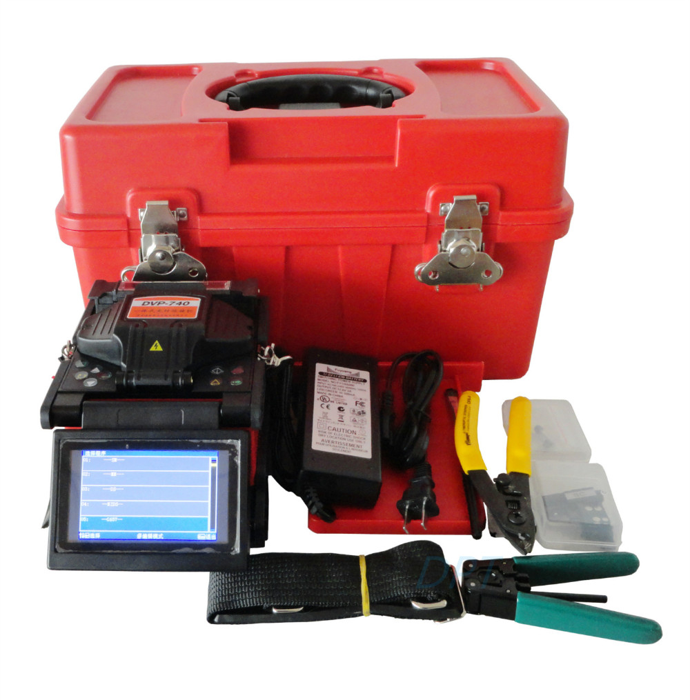 Arc Fiber Optic Fusion Splicer DVP 740 FTTX FTTH Splicing Machine English Russian Spanish German French