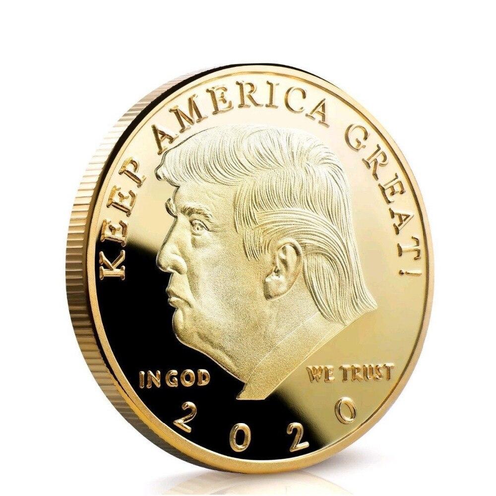 Donald J. Trump 2020 garder l'amérique grand commandant en chef médaille d'or commémorative amérique 45th président nouveauté pièce