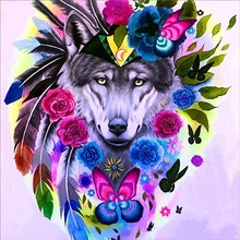 5D Diy Full Round Diamond Painting Cross Stitch Set Embroidery Abstract Animal Pattern Home Decoration Gift