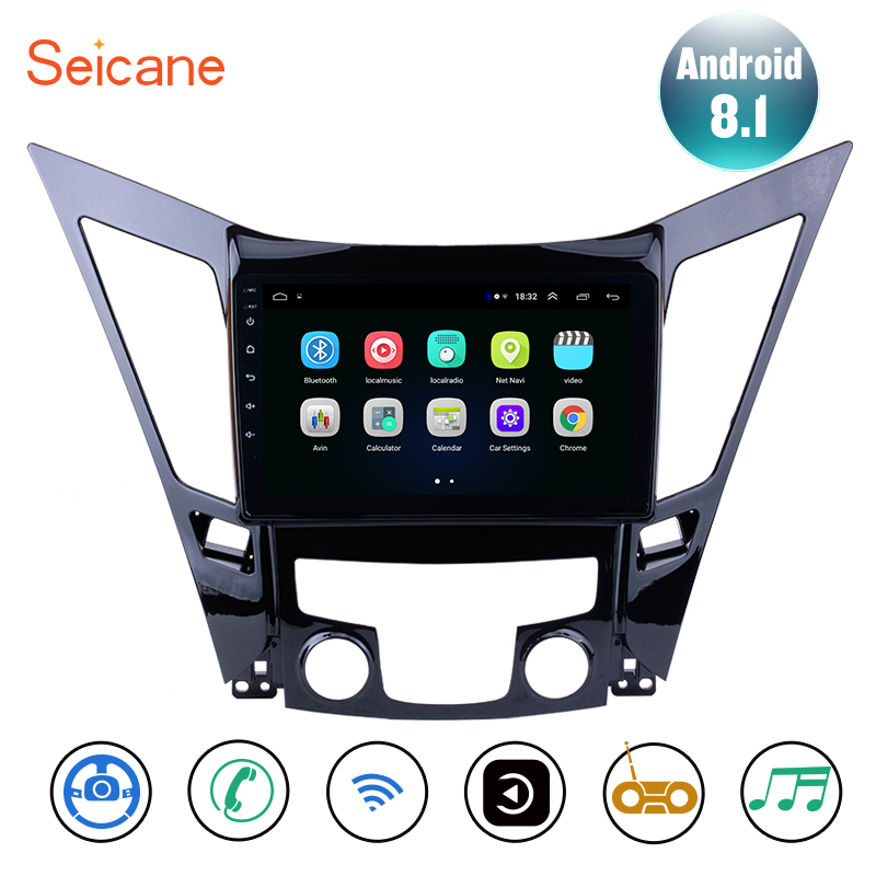 Seicane 9 Android 8.1 Head Unit GPS Car Radio For 2011 2015 HYUNDAI Sonata i40 i45 Support TPMS TV Tuner Backup camera DVR SWC