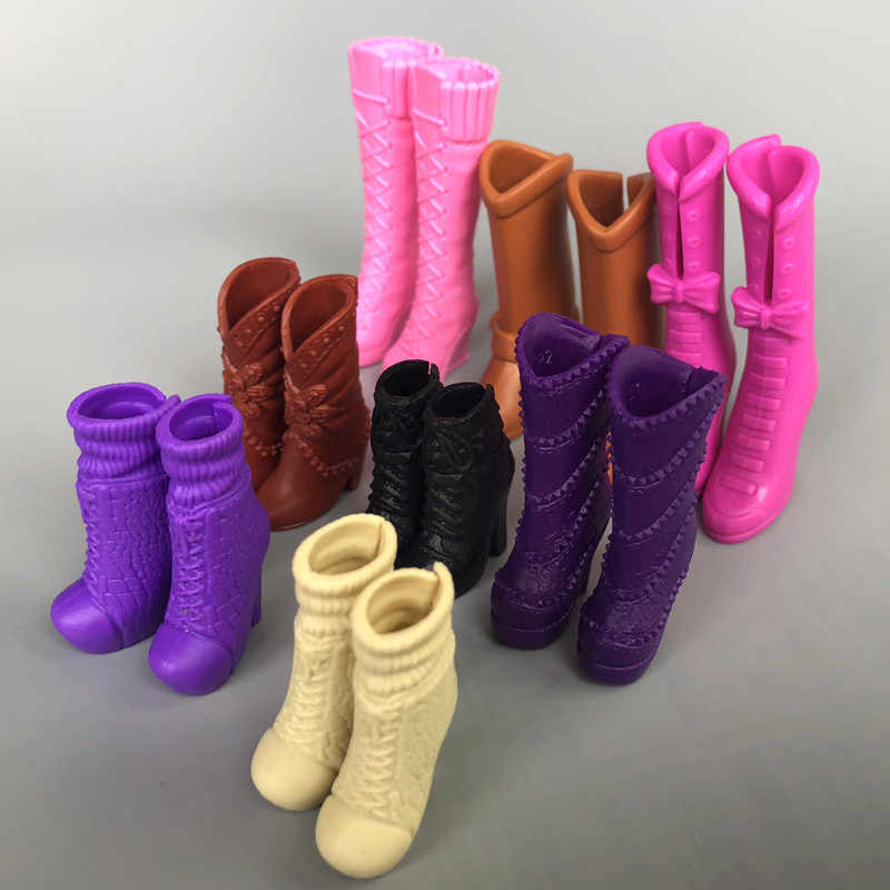 9 Different Styles Original Fashion Doll High Heeled Boots Jackboots Shoes Accessories For 1/6 Barbie Kurhn Doll Toys for Girls