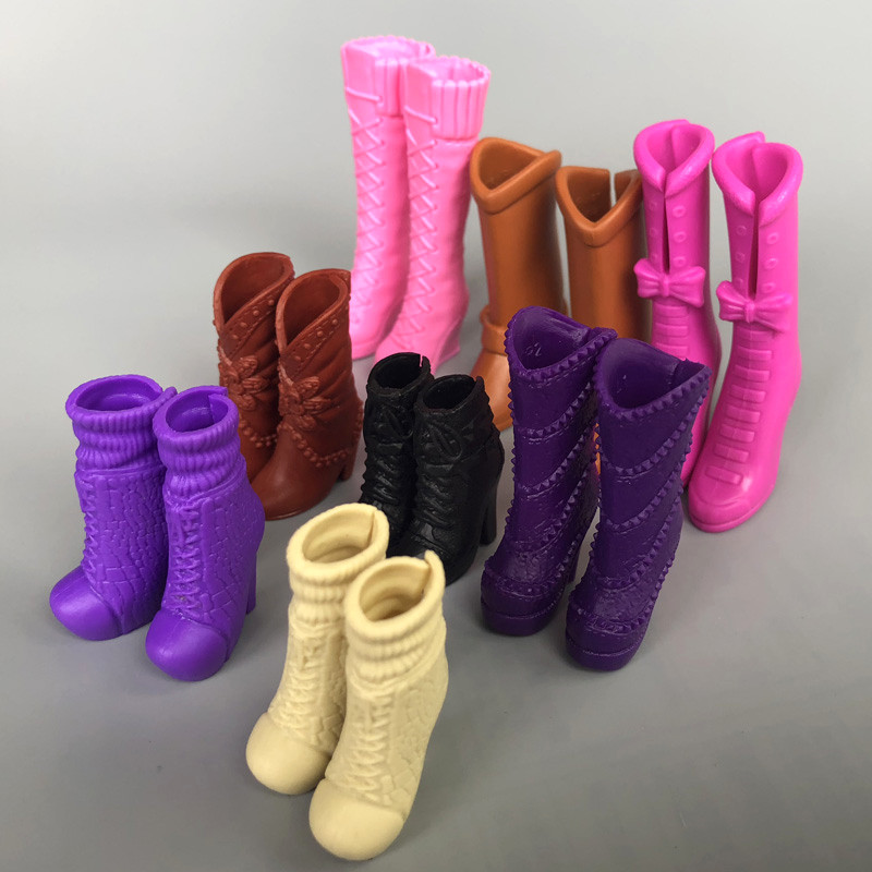 9 Different Styles Original Fashion <font><b>Doll</b></font> High Heeled Boots Jackboots <font><b>Shoes</b></font> Accessories For <font><b>1/6</b></font> Barbie Kurhn <font><b>Doll</b></font> Toys for Girls image