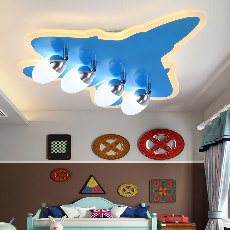 US $120.53 40% OFF|DIY Acrylic Airplane LED Ceiling Light Modern Kids  Bedroom Ceiling lamp decorative home indoor lighting-in Ceiling Lights from  ...