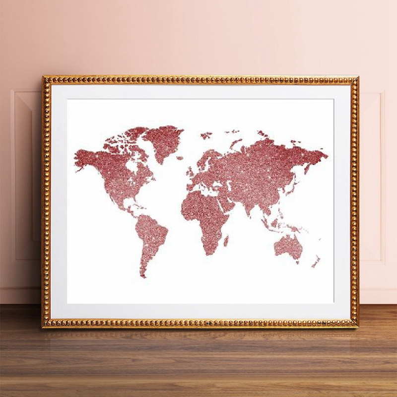 Pink glitter canvas prints