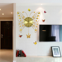 Large butterfly swing clock fashion modern clock and watch personality pocket watch decoration clock
