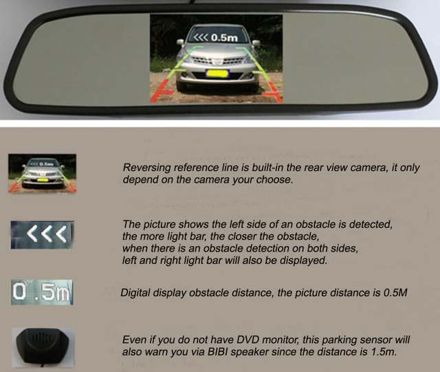 US $60 95 |4 Car Parking Sensors sensor Car Backup Reverse Radar For Mazda  3 Mazda3 M3 Axela Hatchaback 2013~2015 with Car Rear View Camera-in Parking