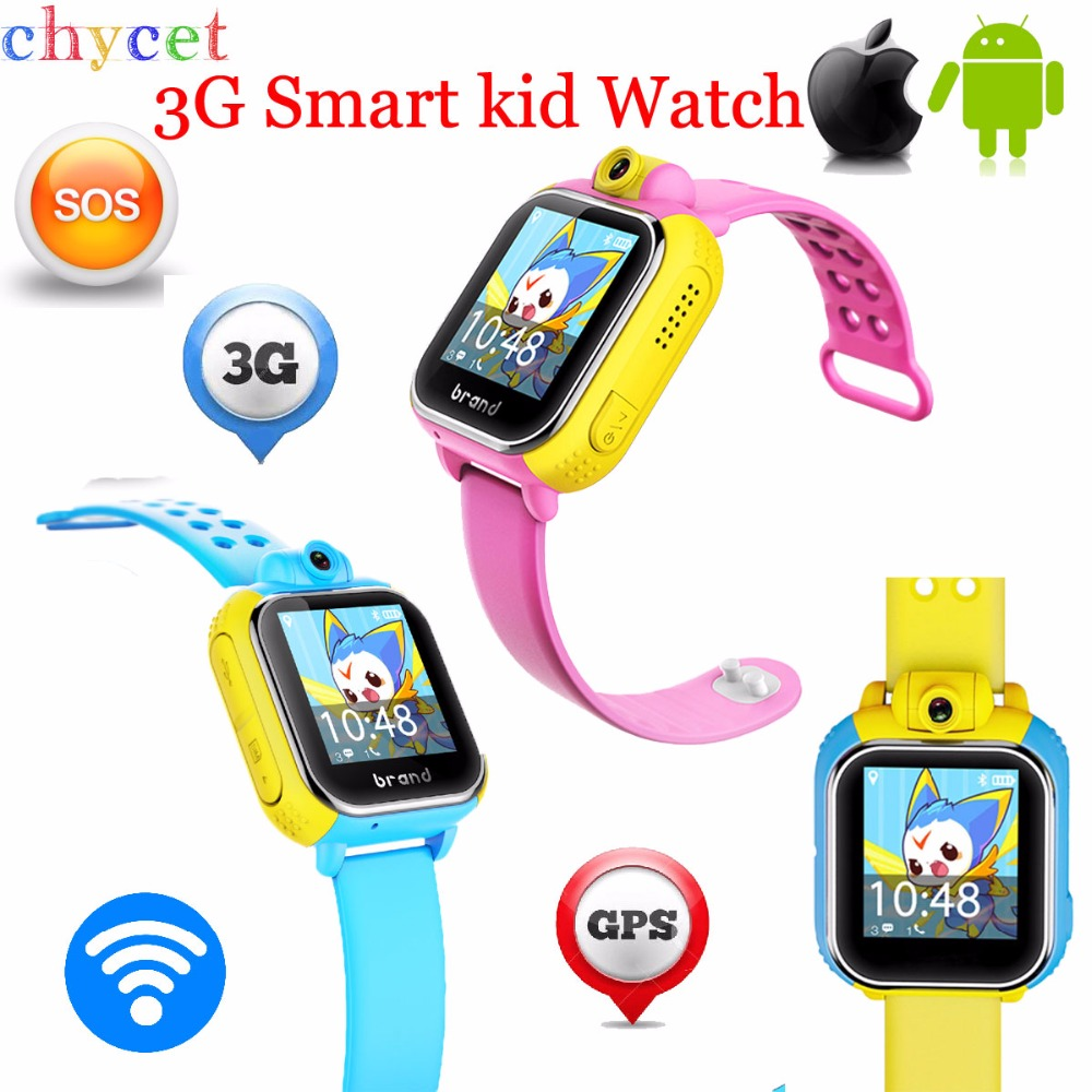 Latest3G Smart Watch Children Kid Wristwatch With Camera GSM GPRS GPS Locator Tracker Anti Lost Smartwatch