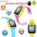 Latest3g smart watch niños kid reloj de pulsera con cámara gsm gprs gps localizador rastreador anti-perdida smartwatch para android ios