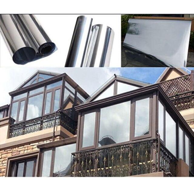 Silver window film one way mirror insulation stickers for 2 way mirror window film