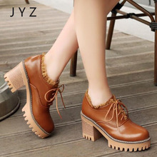 2018 New Fashion Womens Platform Pumps Casual Lace Up Shoes Over Big Size 40 41 42 43 aa0922
