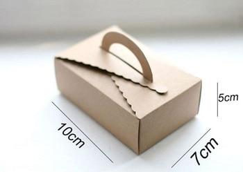 10*7*5cm Hand Cake Paper Box Small Kraft Packing Box,Food Packing Box 100pcs/lot Free shipping