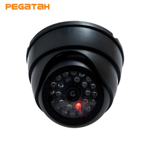 New Fake Dome Dummy Camera Fake Security Camera Dome Fake CCTV Surveillance Camera with Blinking Red LED