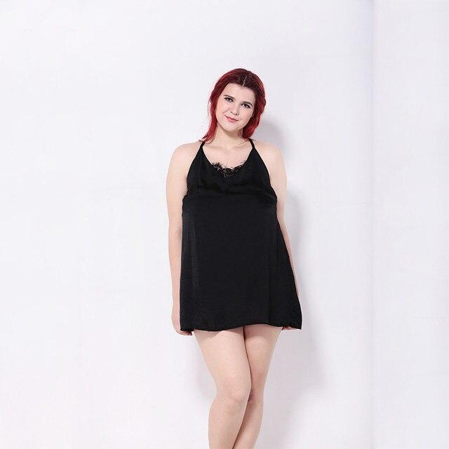 66ab93be3e3 KISSMILK plus size western style fashion sexy patchwork lace backless Large  Size 3XL-6XL woman s Casual spaghetti strap dress