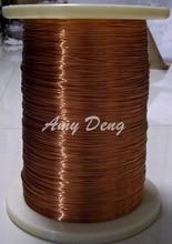 50 metros/lote Envío Libre 1.2mm QA-155 2UEW poliuretano alambre de esmalte cubierto de alambre de cobre