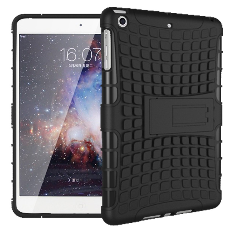 YUNAI Heavy Duty Shockproof Anti-skid Stand Case Hybrid Soft Hard Case Cover For iPad Mini 1234 New 7.9inch Tablet Cover Case