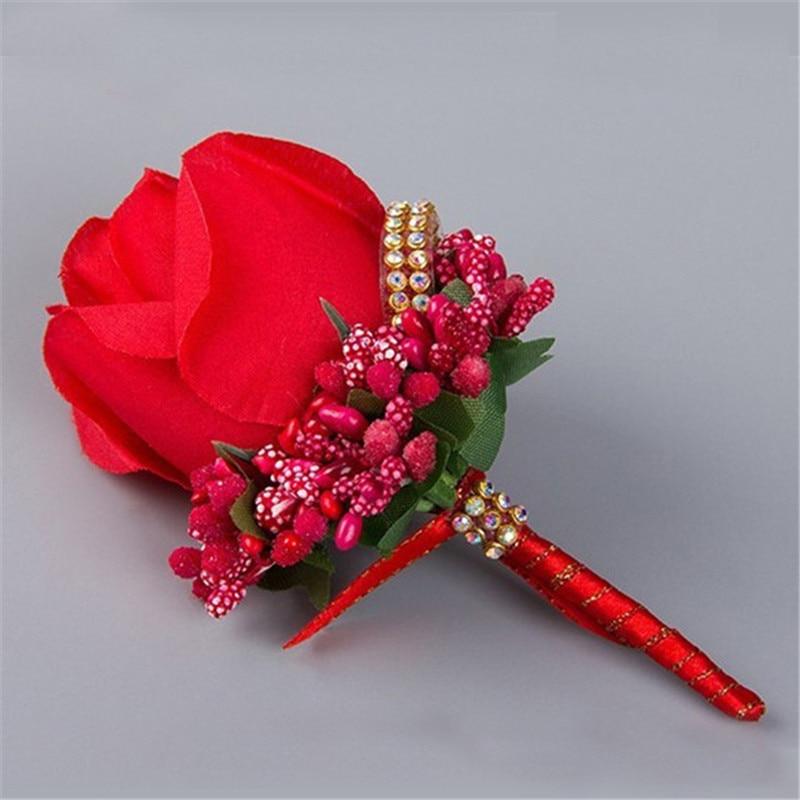 Lule të verdha të verdha të kuqe të verdhë Lulet e dasmave - Furnizimet e partisë - Foto 3