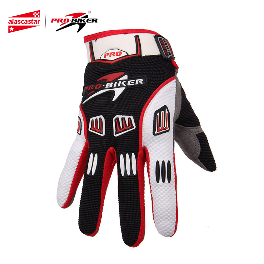PRO-BIKER Motocross Off-Road Full Finger Gloves Racing Riding Motorcycle Gloves Breathable Bicycle Bike MTB Cycling Guantes racmmer cycling gloves guantes ciclismo non slip breathable mens