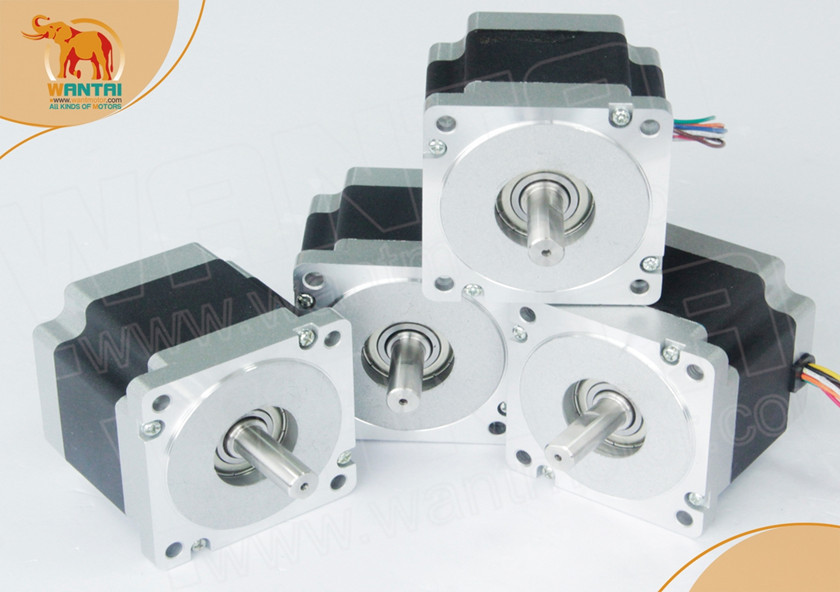 Great Motor! CNC Wantai 4PCS Nema34 Stepper WT86STH118-6004A 1232oz-in 5.6A 118mm CE ROHS ISO Mill Cut Laser Grind Foam Plastic good quality wantai cnc 8 lead nema34 stepper motor 85bygh450d 002 770oz in 94mm 4a ce rohs iso router cut mill laser engraving