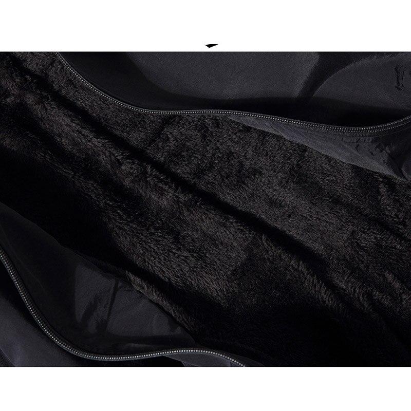 Зимняя новинка, простой дизайн, Толстая теплая куртка с капюшоном для мужчин, черный, серый цвета, молодежная мода, свободные ветрозащитные ... - 5