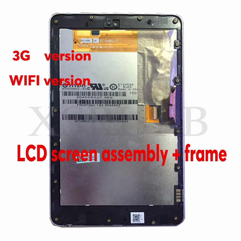 7 inch used For ASUS Google Nexus 7 2012 ME370TG 3G or Wifi version lcd display Touch screen +digitizer Full assembly With Frame  high quality lcd display touch digitizer screen with frame for asus google nexus 7 nexus7 2012 me370tg nexus7c 3g version
