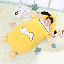 Baby Cocoon Swaddle 0-3 Years Summer Winter Cute Yellow Dog Animal Envelope For Newborn Baby Swaddle Sleeping Bag Sleepsack Boy цена
