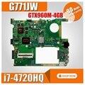 GTX960M-4GB G771JW Motherboard with i7-4720HQ For ASUS ROG G771JW G771JM G771JK G771J G771 Laptop Mainboard Motherboard