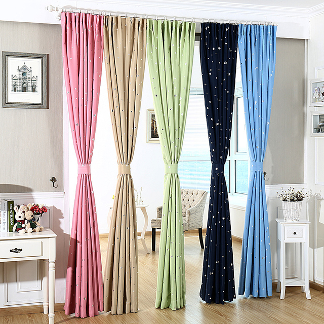 1 slice panel ster verduisterende gordijnen slaapkamer woonkamer gordijn kinderkamer gordijn la cortina del apagon cortina