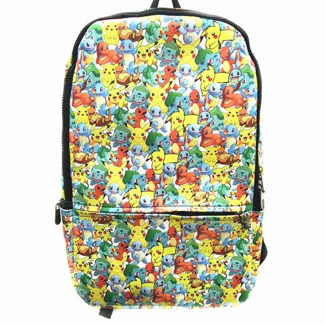 26bc52e94722 Anime Pokemon Daily Backpack Star Wars R2 D2 BB8 School Bags Pikachu Prints  Back pack The Avenger Marvel PU Bag packs Mochila