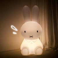 Thrisdar Big Bear Rabbit Led Night Light Dimmable Bedside Baby Sleeping Night Lamps Cartoon Table Lamps