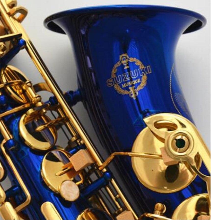 2018 Giappone Suzuki Brand New Sassofono Bemolle alto di Alta Qualità Blu Alto Sassofono Con Il caso Strumenti Musicali Professionali