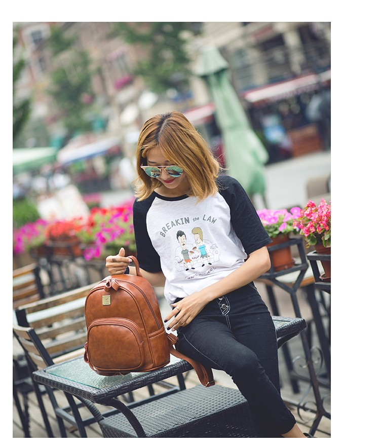2016 Fashion Vintage Black PU Leather Backpacks For Women Preppy Bookbag New Cheap Designer Backpack Brand Couro Mochilas Mujer (11)