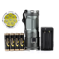 new Powerful 8 x XML L3 High lumens Waterproof led flashlight 4x18650 battery Camping Hunting LED tactical Torch|tactical torch|hunting led20000 lumen -