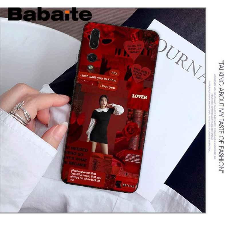 الوردي BLACKPINK kpop الكولاج الجدة Fundas غطاء إطار هاتف محمول لهواوي Mate9 10 Mate10 لايت P9 P10 زائد P20 برو Honor10 View10