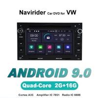 Navirider autoradio gps navigation android 9.0 car radio Player for PASSAT B5 Golf 4 Polo Bora T5 aux bluetooth AUTO accessories