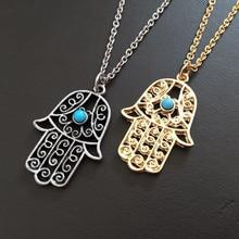 Hamsa Necklace Pendants Metal Chain